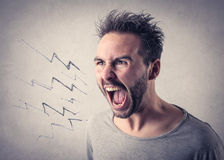 Man screaming out loud. A man screaming out loud Royalty Free Stock Photo
