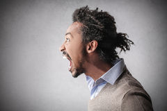 Man screaming Stock Images