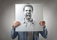 Man screaming Stock Photo