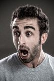 Man screaming Royalty Free Stock Images
