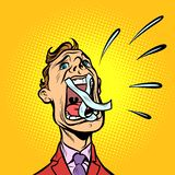 Man screaming taped mouth royalty free illustration
