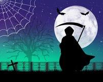 Man with scythe of Halloween Royalty Free Stock Photos