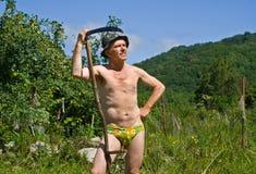 Man with scythe 8 Stock Photo