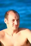 Man at sea Royalty Free Stock Photo