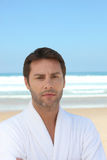 Man by the sea Stock Photography