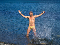 Man in sea 4 Stock Image