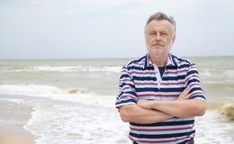 Man on the sea beach Royalty Free Stock Photos