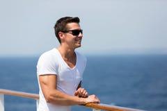 Man sea cruise Stock Images