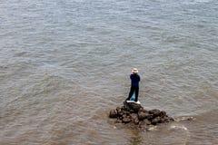 Man and the sea Stock Photos