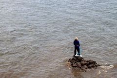 Man and the sea Stock Images