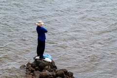 Man and the sea Stock Photo