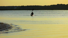 Man sea kayaking Royalty Free Stock Images