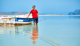 Man in the sea Stock Photography