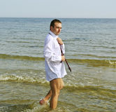 Man at the sea. Royalty Free Stock Image