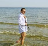 Man at the sea. Royalty Free Stock Image