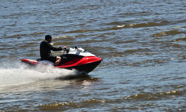 Man on a seadoo Royalty Free Stock Images