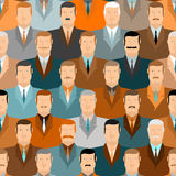 Man seamless pattern.  People vintage colors. Office workers. Royalty Free Stock Image
