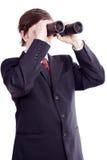 Man_search. A portrait of a seeking businessman. Shot in studio Stock Photography