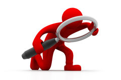 Man searching. 3d illustration of Man searching Royalty Free Stock Images