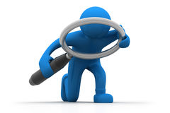 Man searching. 3d illustration of Man searching Royalty Free Stock Photos