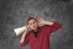 Man searching for ideas Royalty Free Stock Photos