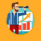 Man searching opportunities for business growth. Royalty Free Stock Photos