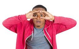 Man searching for something Stock Image