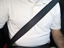 Man with Seat Belt Stock Images