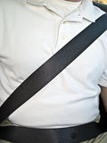 Man with Seat Belt Royalty Free Stock Images