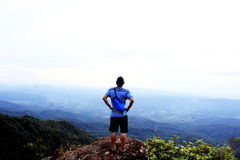 A man seeing Mountain . Royalty Free Stock Photography