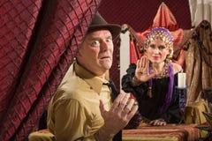 Man Sees Gypsy's Evil Eye stock photo