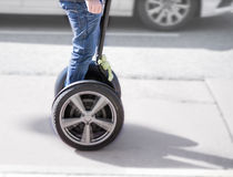 Man on segway Stock Photo