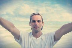 Man and Selfi Royalty Free Stock Photos