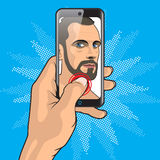 Man Selfie Smartphone Royalty Free Stock Photos