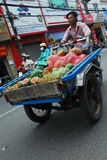 Man selling. Hawker people selling fruit at street Royalty Free Stock Photo