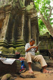 Man selling at Angkor Stock Image