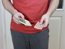 Man is selling drugs. Royalty Free Stock Image