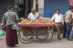 Man selling fruits Stock Image