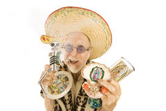 Man selling kitsch tourist items Stock Photos