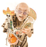 Man selling kitsch tourist items Stock Photo