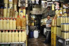 The man selling lemon juice royalty free stock photography