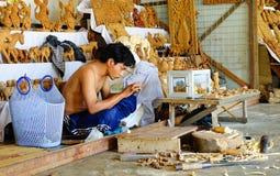 A man selling souvenirs in Bagan, Myanmar Royalty Free Stock Photography