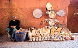 Man selling souvenirs  Royalty Free Stock Images
