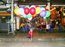 Man sells balloons in Khao San Road Royalty Free Stock Photo