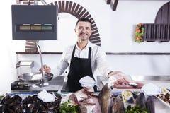 Man sells fresh fish Stock Image