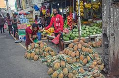 A man sells fruits in Galle. Sri Lanka Royalty Free Stock Photography