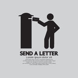 Man Sending A Letter Graphic Symbol Royalty Free Stock Images