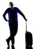 Man senior travelers traveling silhouette Royalty Free Stock Photos