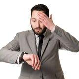 Man in sent Arkivfoto