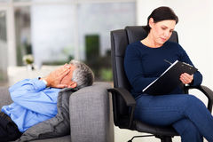 Man session therapist Royalty Free Stock Image